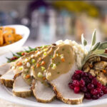 Plate of delicious turkey with cranberry at Export Grill restaurant